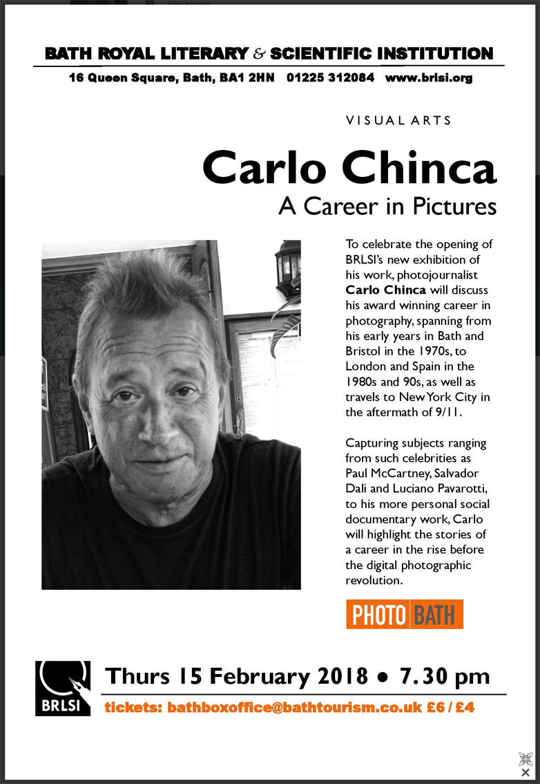 Carlo Chinca Talk At Bath Royal Literary & Scientific Institution